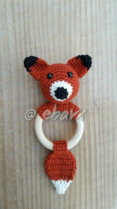Photo only - Use for coloring Crochet Baby Toys, Crochet Fox, Crochet Baby Clothes, Crochet Cross, Love Crochet, Crochet For Kids, Diy Crochet, Baby Knitting, Newborn Toys