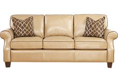 Shop for a Cindy Crawford Home Leather Maravilla Sofa at Rooms To Go. Find Leather Sofas that will look great in your home and complement the rest of your furniture.