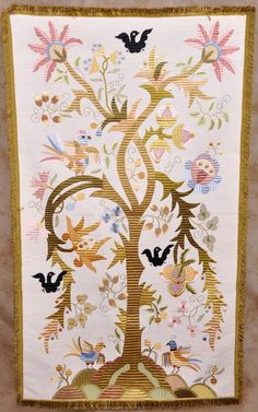 The Tree of Life - Silk Embroidery - Bordado de Castelo Branco