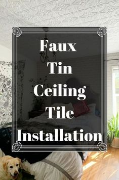 Learn how to install ceiling tiles and give your home the makeover you didn't know it needed. These ceiling tiles instantly upgrade your home and give you a luxe look on a budget. Use the following steps to install ceiling tiles in just a few hours. #diy #ceiling #ceilingdecor #tiles #tileinstillaton #diyceilings #budgetdecor