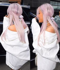 Photo of Ariana grande with light purple hair:). Ariana Grande Bangs, Ariana Grande Outfits, Light Purple Hair, Lilac Hair, Lavender Hair, Ariana Grande Wallpaper, Dangerous Woman, Pretty Hairstyles, People