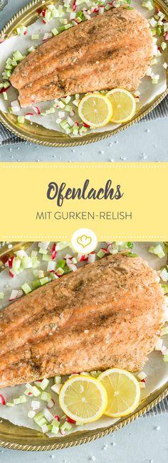 Nicht nur praktisch, sondern auch lecker und gesund! Das Relish aus Gurken, Radieschen und Meerrettich verleiht dem Lachs eine herrlich frische Note.