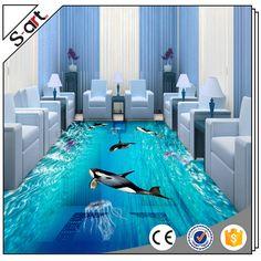 Interior design under sea world seascape killer whale 3d decorative floor mural wallpaper large size