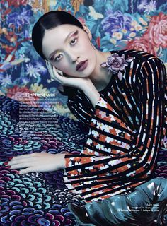 Harper's Bazaar nars x erdem | LUKAS BLASBERG Sandrine Dulermo and Michael Labica - Photographer Lukas Blasberg - Fashion Editor/Stylist Chris Schild - Hair Stylist Chris Schild - Makeup Artist Hilda Lee - Model