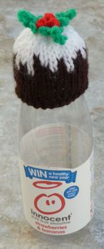 Innocent Smoothies Big Knit Hats - Christmas Pudding