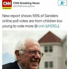 Wait you're telling me ONLINE POLLS ACCESSIBLE TO JUST ABOUT ANYONE MAY BE...FRADULENT?!   Lol. Seriously I thought this was already established when Reddit would raid Fox News and vote for only Bernie. (PC: @god_guns_freedom )  Follow My Partners  @politicalcat . . . (Tags) #conservative #libertarian #liberal #hillno2016 #hillaryforprison2016 #crashandbern #runbenrun #standwithrand #trump2016 #prolife #donttreadonme #antifeminist #millenials #economics #berniesanders #socialism #capitalism…