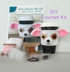 Crochet Kit/DIY/Pattern and Yarn Kit/Chihuahua by HookedbyAngel
