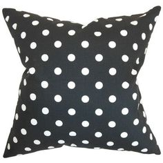 The Pillow Collection Nancy Polka Dots Cotton Throw Pillow Size: