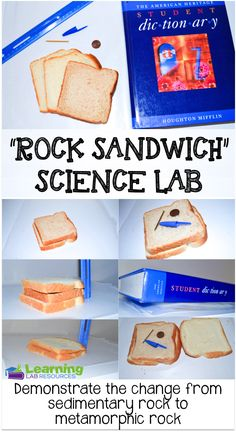 "Demonstrating processes of the earth can be a valuable way for showing students things that take place over a long time.  This ""Rock Sandwich"" science lab helps students to visualize the process of sedimentary rocks turning into metamorphic rocks."