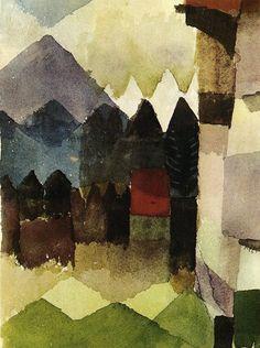 Paul Klee, South Wind in Marc's Garden, 1915