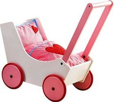 This lovely wooden Haba doll pram is a classic toddler doll pram and great as a first pram. Wooden Dolls Pram by HABA with bedding set Girl Gifts, Baby Gifts, Baby Toys, Kids Toys, Baby Doll Accessories, Dolls Prams, Toddler Dolls, Baby Carriage, Wooden Dolls
