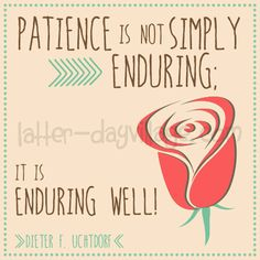 """LDS Young Women October: """"How can I learn to be more patient?"""" Lesson helps include PDF downloads and activity ideas! www.LatterDayVillage.com"""