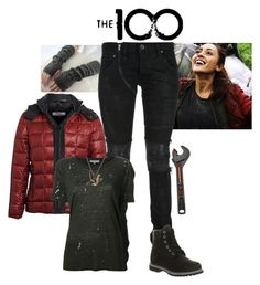 """""""Raven Rayes - The 100"""" by gone-girl ❤ liked on Polyvore featuring ONLY, Reyes, If Six Was Nine, Timberland, IRO, Craftsman, Origami Jewellery, the100, RavenRayes and Wrenchmonkey"""