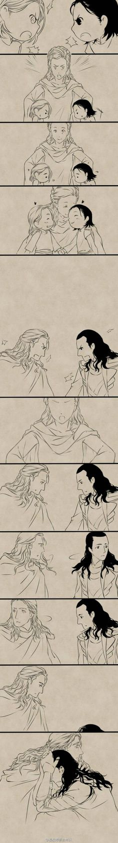 I can't stop crying. Thor and Loki: