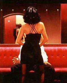 "Jack Vettriano - ""The Life - Private Dancer"", 2006 Jack Vettriano, Arte Do Pulp Fiction, Serpieri, Glamour, Pulp Art, Poses, Boris Vallejo, Anime Comics, Erotic Art"