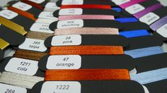colour charts for knitted ties / North of Milan, Italy #artisan #knittedties