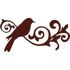 Silhouette Design Store: bird ornate decor