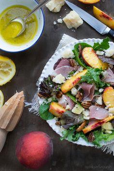 Peach Prosciutto and Parmesan Salad | www.tasteloveandnourish.com