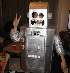 Coolest homemade robot costume ideas for halloween pinterest sexy robot costume contest extended halloween diyhappy solutioingenieria Gallery