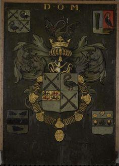Anonymous | Grafbord van Frans Banning Cocq (1605-55), heer van Purmerland en Ilpendam, Anonymous, in or after 1655 | Grafbord van Frans Banning Cocq, heer van Purmerland en Ilpendam met opschrift: 'D.O.M. OBIIT I Januari MDCLV'.