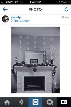 Winter/Christmas mantle