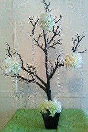 dark tree with white