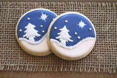 Christmas Party Favors / Christmas Sugar Cookies / Christmas Gifts for Teachers / Cookies / Christmas Night Sugar Cookies  - 12 cookies by GuiltyConfections on Etsy https://www.etsy.com/listing/212199144/christmas-party-favors-christmas-sugar