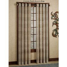 SoHo Semi Sheer Plaid Grommet Curtain Panels