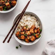 This Spicy Baked Peanut Butter Tofu is baked to crispy perfection and then tossed in a spicy peanut butter sauce. Top it off with some green onions and cilantro and serve it with rice or noodles! Veggie Recipes, Lunch Recipes, Asian Recipes, Vegetarian Recipes, Cooking Recipes, Healthy Recipes, Easy Dinner Recipes, Vegan Foods, Vegan Recipes