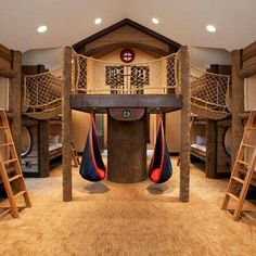 Fun gameroom/sleepover room for kids!