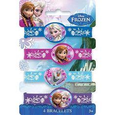 Disney Frozen Rubber Bracelets [4 Per Pack]