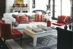 Bring the red, white & blue into your home for Presidents Days with this classic look!  #home #decor