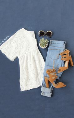 Beige Short Sleeve V Neck Hollow Blouse