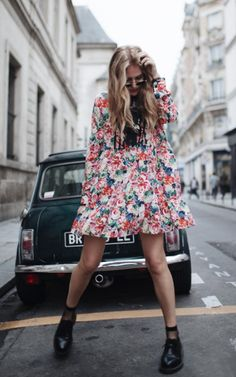 Ganni street style | Olja Ryzevski | Maple Silk Dress