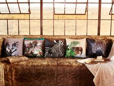 The Safari collection brings the savannah into the home through intricate embellishments, colours and wildlife designs. Wild Creatures, Savannah Chat, Safari, Embellishments, Wildlife, African, Colours, Throw Pillows, Stone