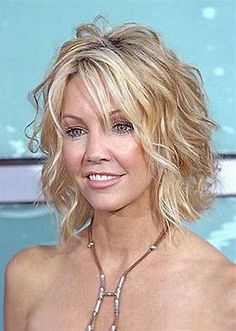 Image result for beach wave shoulder length haircuts for women over 50 with glasses and fine hair
