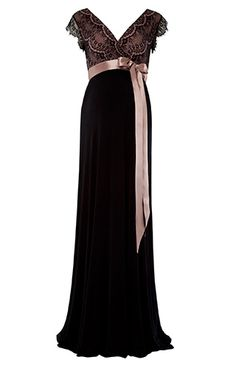 Our best selling Rosa maternity gown in Vintage Blush is the perfect party dress. So we've added a full length version for those A-list evenings when you want to shine.