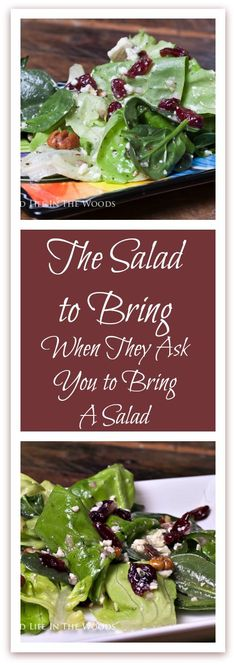 "The Salad to Bring When They Ask You To Bring A Salad is the answer to the question, ""What kind of salad should I bring to this dinner?"""