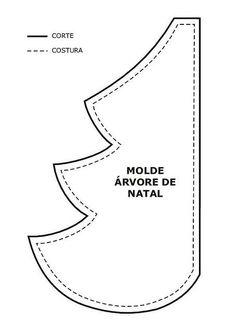 molde de arvore de natal em tecido de vanessa fernandes - Pesquisa Google
