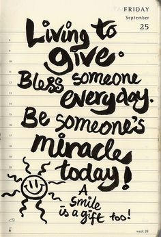 realize your blessings, share them, pay it forward...love one another!