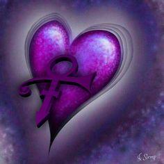 Purple heart for a beautiful Prince