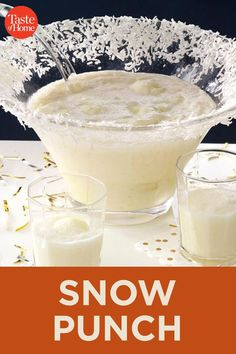 Snow Punch recipes and nutrition and drinks recipes recipes celebration diet recipes Christmas Punch, Christmas Cocktails, Holiday Drinks, Christmas Desserts, Holiday Recipes, White Christmas, Christmas Time, Holiday Punch, Italian Christmas