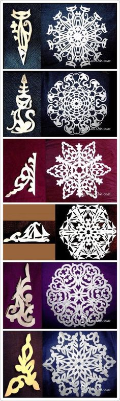 Origami christmas decorations kids 20 id. Snowflake Template, Snowflake Designs, Snowflake Pattern, Holiday Crafts, Fun Crafts, Diy And Crafts, Arts And Crafts, Paper Snowflakes, Christmas Snowflakes