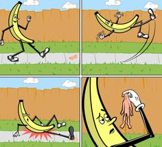 Na União Soviética, a banana escorrega em VOCÊ