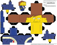 Cubee - Mayor Quimby by CyberDrone.deviantart.com on @deviantART