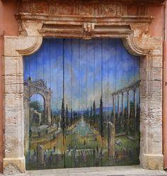 porte peinte roussillon | por huahine2008