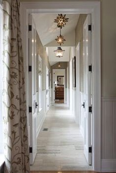 Sarah's House - hallway: love the brightness & layers to the hallway