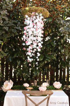 Paper Flower Wedding Chandelier