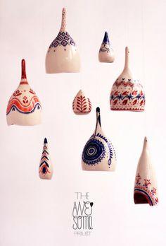 AwesomeFOLK show, Hand-painted ceramics Porcelain Jewelry, Fine Porcelain, Porcelain Ceramics, Painted Porcelain, Painted Ceramics, Hand Painted, Ceramic Tableware, Ceramic Pottery, Ceramic Art