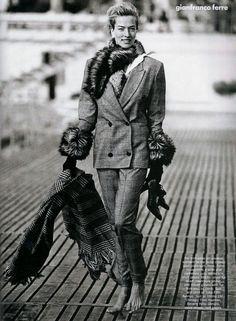 Photos PETER LINDBERGH  Vogue US - The nonconformist - Tatjana Patitz - Jul 1989
